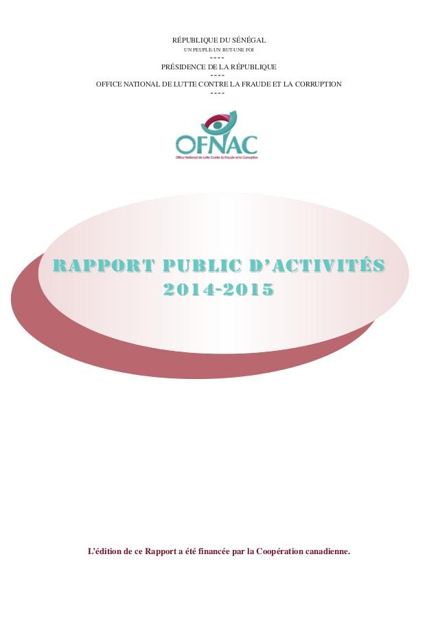 Rapport OFNAC 2014-2015